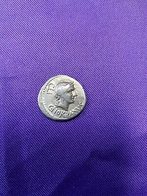Rare Authentic 83 BC Roman Republic Silver Denarius.