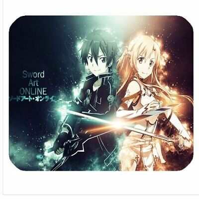 Mouse mat 3 Sword art online Kirito and Asuna Great quality pad
