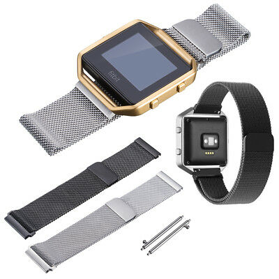 UK New Milanese Magnetic Loop Stainless Steel Band Strap For Fitbit Blaze Watch