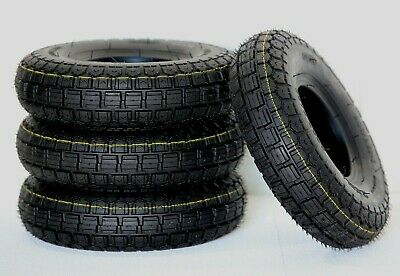 Set of (4) 4.10/3.50-5 Black Mobility Scooter Wheelchair Power Chair Tyres