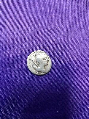 Rare Authentic 74 BC Roman Republic Silver Denarius.