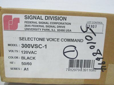 300Vsc-1 Federal Signal Command Unit Module Black 120V-Ac Selectone …