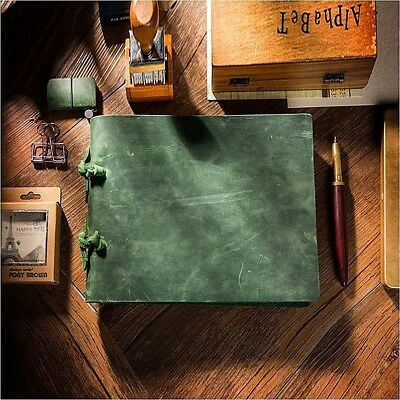 Handmade Vintage Rustic Genuine Leather Journal Diary Sketchbook Notebook A5