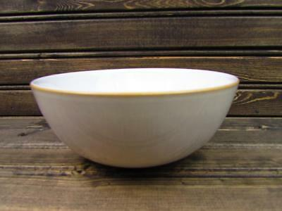 Natural Canvas by Denby-Langley Soup Cereal Bowl Linen Rim Tan Verge BRAND NEW