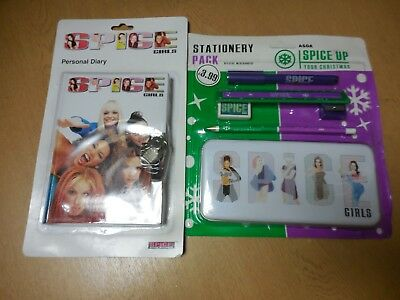 Spice Girls Personal Diary/Stationary Pack - Offical Merchandise - SEALED - 1997