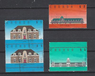 "Canada  1989 # 1181-1183  "" Architecture High Values  "" Set of 3  Used"