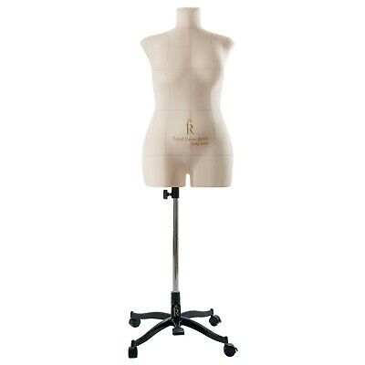 Eva Female Fully Pinnable Sewing Dress Form Soft Tailor Mannequin Beige XXL Size