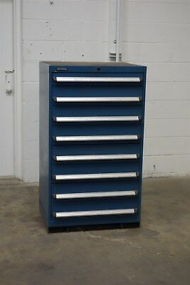 Used Kennedy 8 Drawer Cabinet 51 Tall Shallow Storage 1204 Vidmar