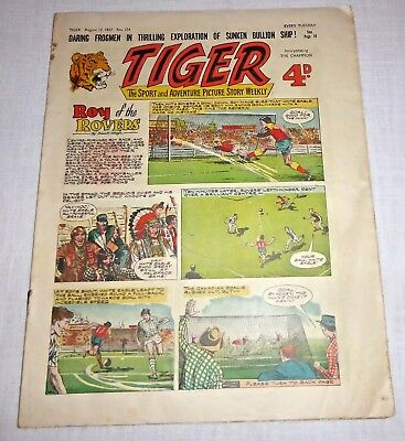 TIGER Comic August 17th 1957 No. 154 - Good condition