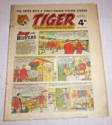 TIGER Comic August 18th 1956 No. 154 - Fairly good condition