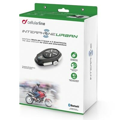 Interphone Urban Motorcycle Bluetooth Intercomm Comms - Single Headsets