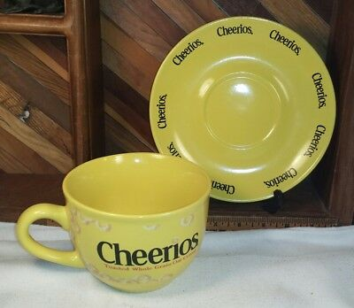 Large Yellow Cheerios Cereal Bowl Mug Cup and Saucer