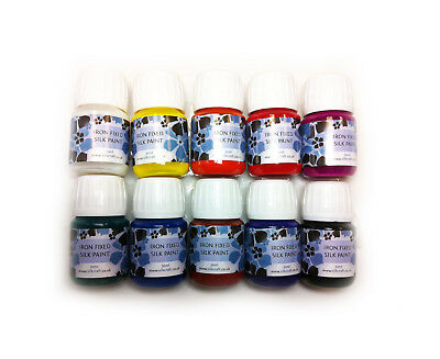 Silkcraft Silk Paint  Iron Fixed 10 x 30ml - value pack - HIGH QUALITY