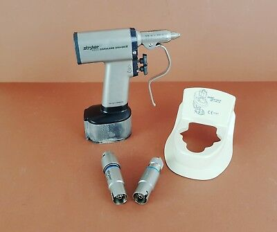 Stryker 4200 Cordless Driver 2 Handpiece Medical Drill+Stryker Pin Collet+Extras