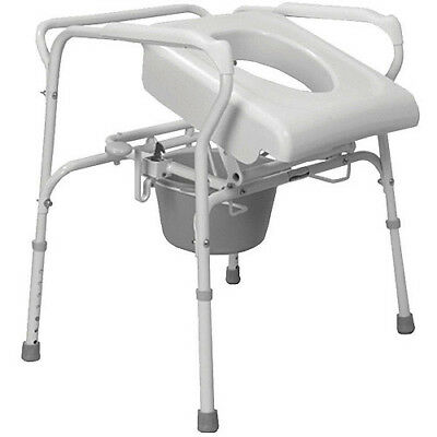 Carex Uplift Commode Assist Lifting Seat Chair Home Health Steel Toilet Premium