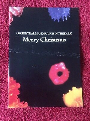 Orchestral Manoeuvres In The Dark - Signed Fan Club Xmas Card   # OMD