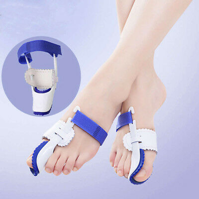 Pair Bunion Splint Corrector Hallux Valgus Straightener Toe Separator Support UK