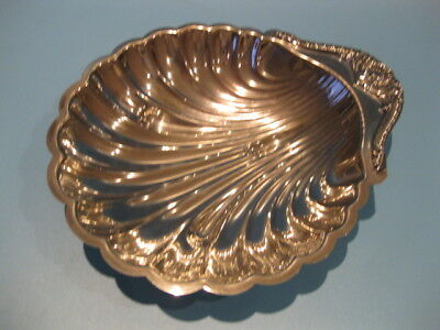 Beautiful Large Ornate Antique Silver Plate Shell Shape Caviar Dish with Spoons