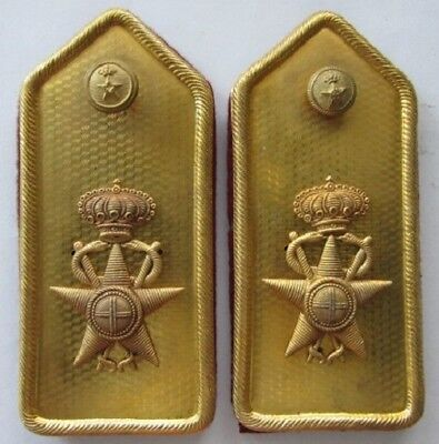 Original WWII Fascist era Italian Army Shoulder Boards for the Medical Corps