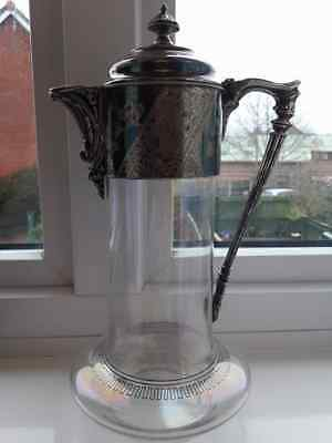 ART Nouveau SILVER PLATED MASK DECANTER PITCHER CLARET JUG