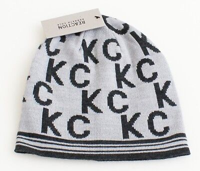 5202167af8e25 REACTION KENNETH COLE Beanie Hat KC Logo Blush Reversible New w Tags ...