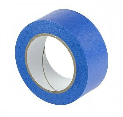 50Mmx 50M 3 Rolls Of Uv Resistant Blue Masking Adhesive Tape Easy Peel And Tear
