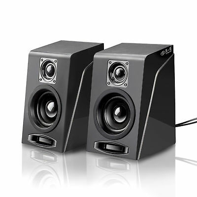 USB Powered Computer PC Laptop Desktop Speaker Volume Control Subwoofer System