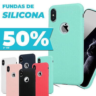 Funda Iphone 6 6S 7 Plus X Carcasa Silicona Gel Flexible Ultra Suave TAPAPOLVO