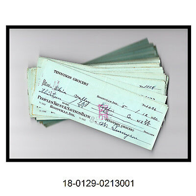 Lot of Over 75 Peoples Trust & Savings Bank Checks (Circa 1930's)