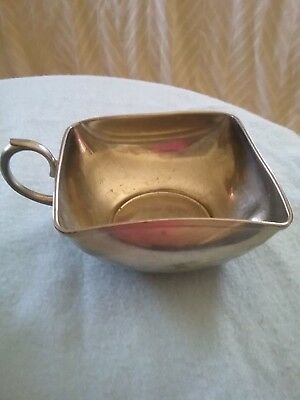 Vintage Royal Holland Pewter KMD Daalderop Square Cup or Sugar Bowl