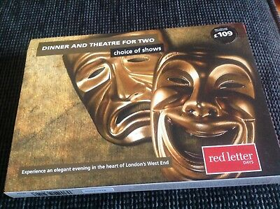 Red letter day voucher- dinner and theatre for two (London)