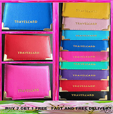 Leather Oyster Card Travel Card Bus Pass Holder Wallet Rail Card Ticket Cover