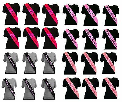 Black & Pink Hen Party Sash Sashes Girls Do Night Out Accessories Wedding Bride