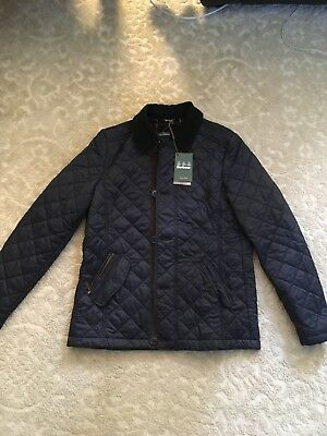 barbour fortnum quilt jacket mens large
