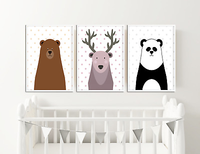 Scandinavian Nursery Peekaboo Animal Prints Baby Room Decor Ideas FRAMED