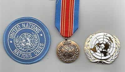 United Nations Medal For Macedonia  ,un Beret Badge And Sleeve Badge -Superb Lot