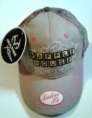 Waffle House Realtree Pink Camo Hat Cap Womens Ladies Fit One Size Fits Most New