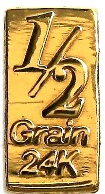 1/30 Gram .9999 Fine 24k Gold Bullion Bar - In Assay Card
