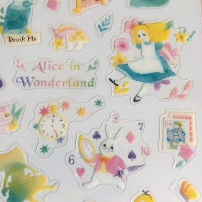 Alice in Wonderland PVC Stickers Pastel  Scrapbook diary Cardmaking Phone DIY