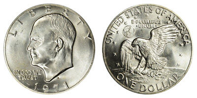 1971 S Eisenhower IKE Dollar , BU UNCIRCULATED , 40% SILVER , FREE SHIPPING!