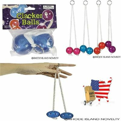 Durable Clackers Super Clacker Balls Stocking Stuffer Xmas Toy Assorted Colors