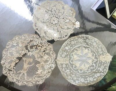 Antique Handmade LACE DOILY Lot of 3 from Estate Collection
