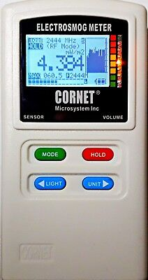 CORNET ED88T Plus EMF/RF Detector 100MHz-8GHz |Includes Free Hard Shell Zipper|