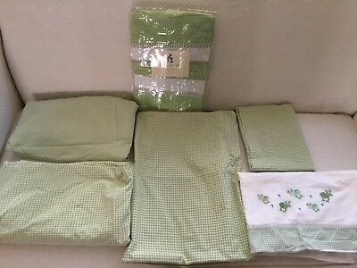 Pottery barn kids crib sheets, duvet cover, top sheet/youth bed & diaper stacker