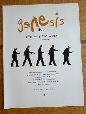 Original  genesis Phil Collins  magazine ad for album the way we walk live.