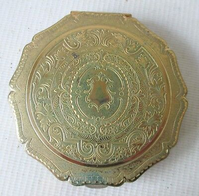 Vintage Makeup Mirror Compact By Stratton