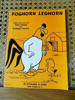 Animation-Cartoon Sheet Music: FOGHORN LEGHORN-WARNER BROS! 1955