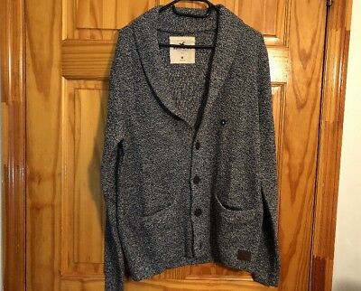 HOLLISTER by Abercrombie Shawl Cardigan Sweater Grey NWT Front Pocket Size M 4d941bf30