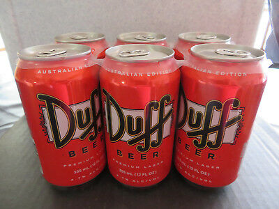 collectable beer cans Duff Six Pack