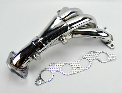 Stainless Race Manifold Header for Honda Civic DX LX GX 01-05 1.7L SOHC D17